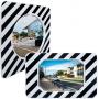 Miroirs d'Agglomération - cadre noir et blanc  - 1