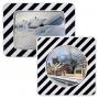 Miroir Agglo/Routier INOX anti-givre et buée  - 2