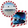 Miroirs de sécurité INDUSTRIELS avec cadre Rouge et Blanc  - 1