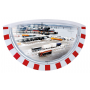 Miroirs industriel casquette - cadre rouge/blanc - vision Grand angle  - 2