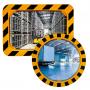 Miroirs industriels P.A.S / POLYMIR - Cadre jaune et noir  - 1