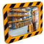 Miroirs industriels P.A.S / POLYMIR - Cadre jaune et noir  - 4