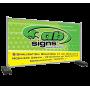 Bâche pour clôture de chantier en PVC 300g/m² - format 340 x 173 cm  - 1